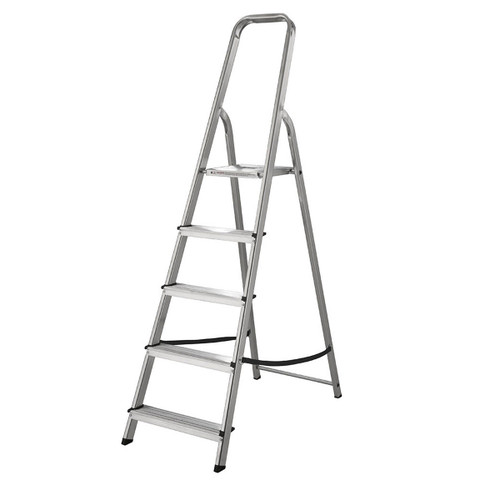 Buy Werner 74005 High Handrail Stepladder 5 Tread (1.03m) at Toolstop