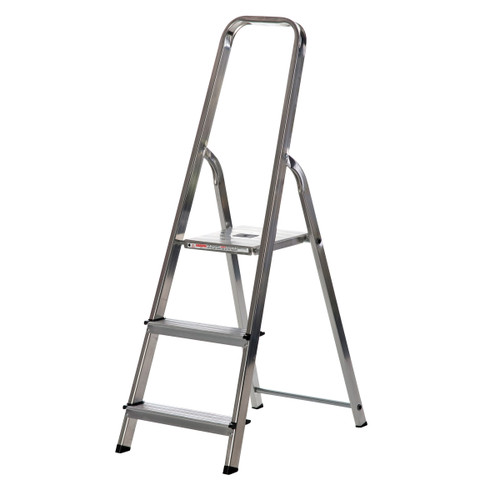 Buy Werner 74003 High Handrail Stepladder 3 Tread (0.58m) at Toolstop