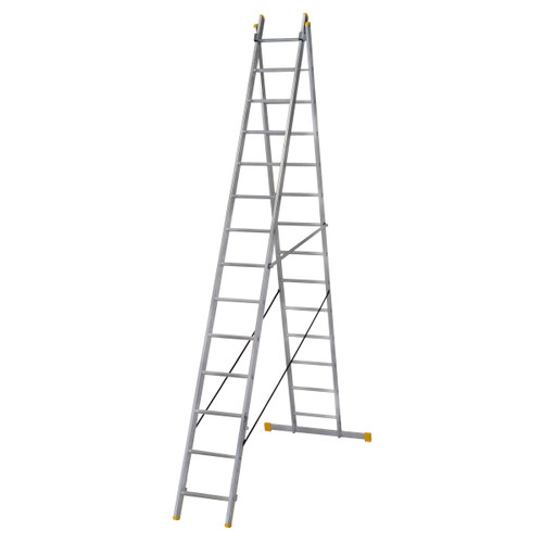 Werner 72441 Double Box Section ExtensionPLUS X3 Ladder (4.09m) - 5