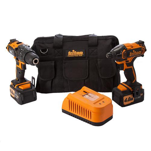 Triton T20TP01 Twin Pack 20V Combi Drill / Impact Driver (275297) (2 x 4.0Ah Batteries) - 3