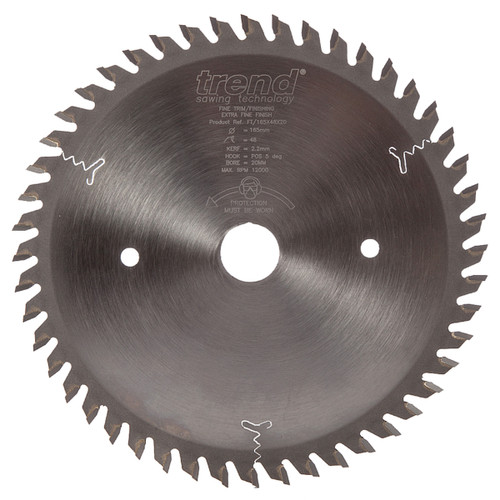 Trend FT/165X48X20 Professional Plunge Blade 165mm x 20mm x 48T - 2