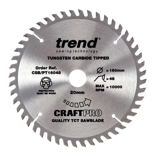 Trend CSB/PT16048 CraftPro Saw Blade 160mm x 20mm x 48T (Festool TS55) - 4