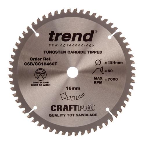 Trend CSB/CC18460T CraftPro Saw Blade Crosscut 184mm x 60T - 5