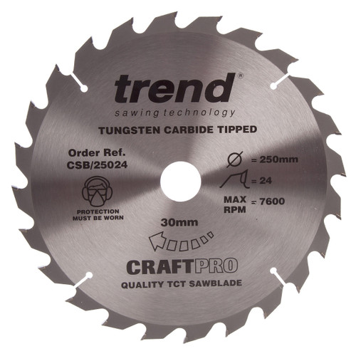Trend CSB/25024 CraftPro Saw Blade 250mm x 30 x 24T - 2