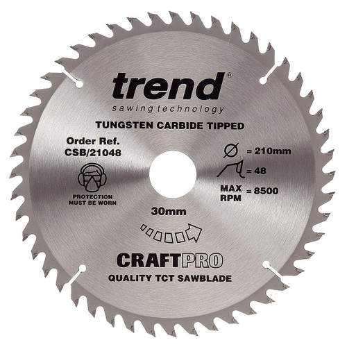 Trend CSB/21048 CraftPro Saw Blade 210mm x 30mm x 48T - 5