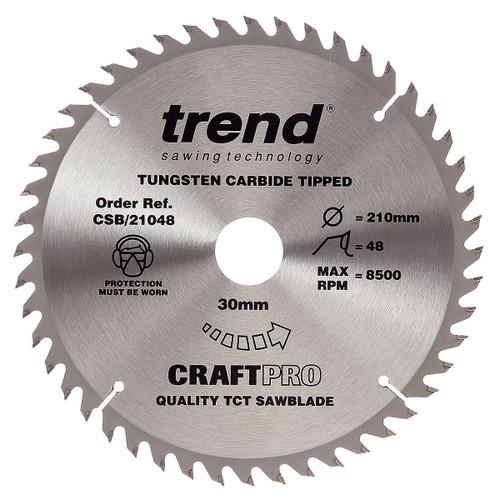 Trend CSB/21048 CraftPro Saw Blade 210mm x 30mm x 48T - 5
