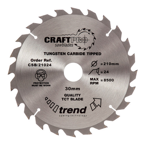 Trend CSB/21024 CraftPro Saw Blade 210mm x 30mm x 24T - 5