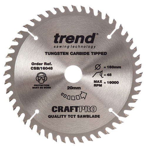 Trend CSB/16048 CraftPro Saw Blade 160mm x 20mm x 48T - 5