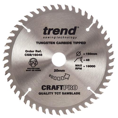 Trend CSB/16048 CraftPro Saw Blade 160mm x 20mm x 48T - 5
