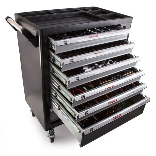 Toolstop CHRSD Chrono XL 7 Drawer Tool Trolley in Black with Side Door and 248 Piece Tool Kit - 8
