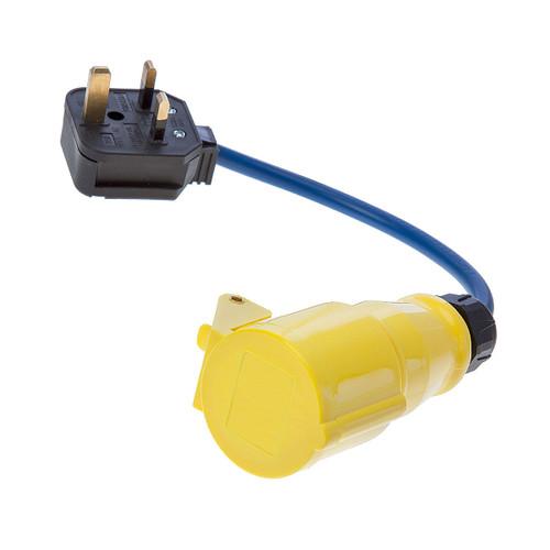 Toolstop Fly Lead Socket Converter 110V - 240V Adapter - 2