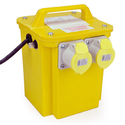 Buy 3KVA Twin Outlet 16 Amp Site Transformer 240V - 110V at Toolstop