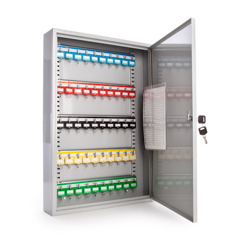 Sterling KC50H Heavy Duty Key Cabinet in Grey - 50 Hooks - 3
