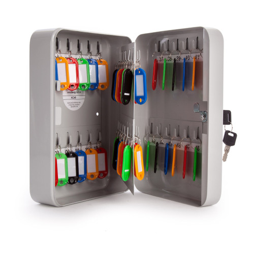 Sterling KC48 Home and Office Key Cabinet in Grey - 48 Hooks - 4