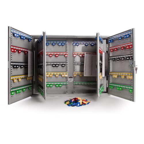 Sterling KC400HL Heavy Duty Key Cabinet Double Doors in Grey - 400 Hooks - 4