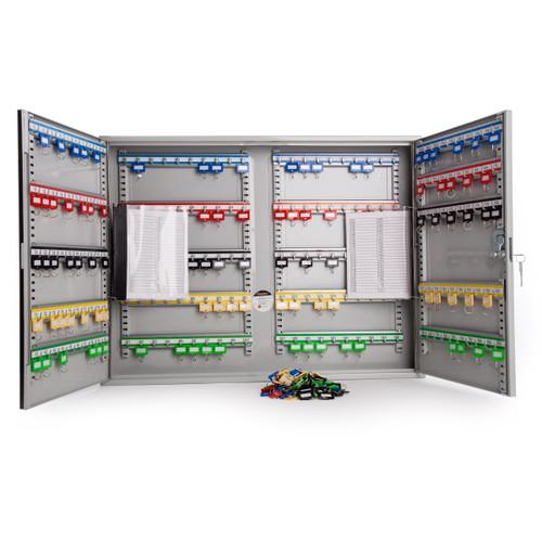 Sterling KC200HL Heavy Duty Key Cabinet Double Doors in Grey - 200 Hooks - 4