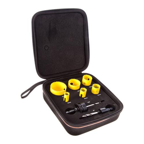 Starrett KFC06021 Bi-Metal Fast Cut Electricians Holesaw Kit (6 Piece + 2 Arbors) - 4