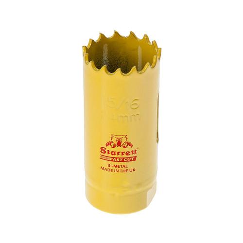 Starrett FCH1056 Bi-Metal Fast Cut Holesaw 15/16in / 24mm - 1