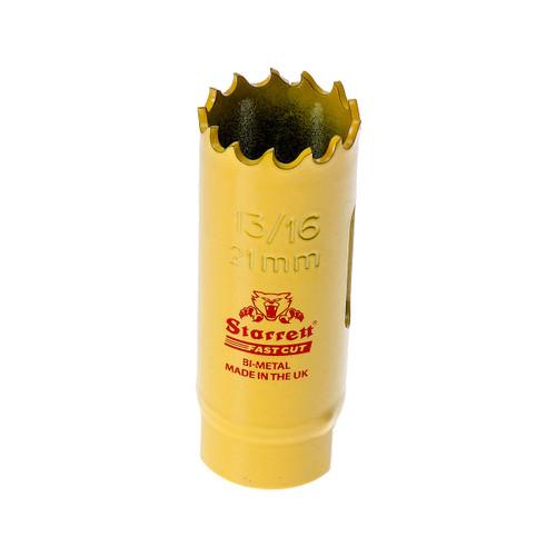 Starrett FCH1036 Bi-Metal Fast Cut Holesaw 13/16in / 21mm - 1