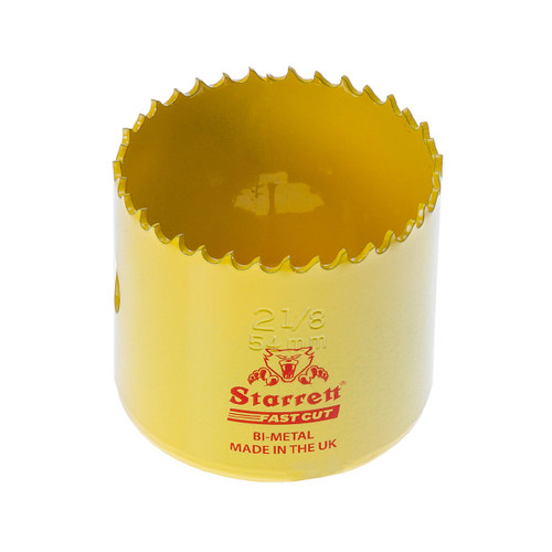 Starrett FCH0218 Bi-Metal Fast Cut Holesaw 2 1/8in / 54mm - 1
