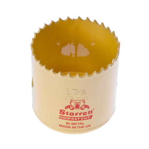 Starrett FCH0178 Bi-Metal Fast Cut Holesaw 1 7/8in / 48mm - 1