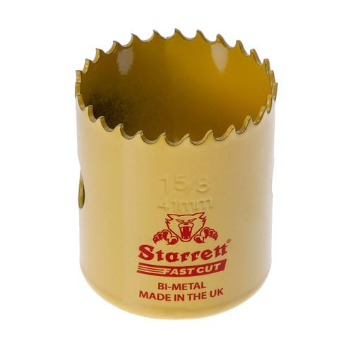 Starrett FCH0158 Bi-Metal Fast Cut Holesaw 1 5/8in / 41mm - 1