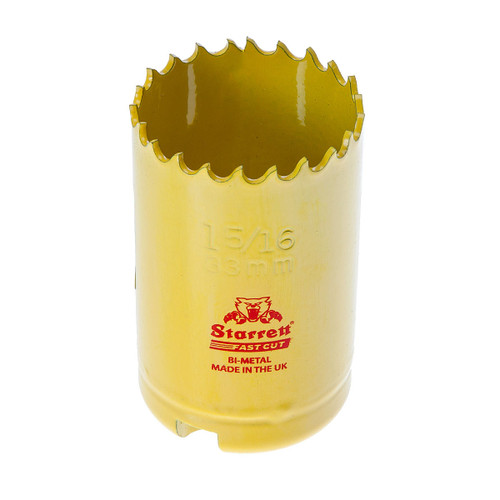 Starrett FCH0156 Bi-Metal Fast Cut Holesaw 1 5/16in / 33mm - 1