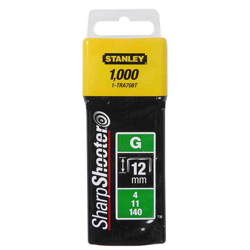 Buy Stanley 1-TRA708T Heavy-Duty Staples 12mm (Pack of 1000) at Toolstop