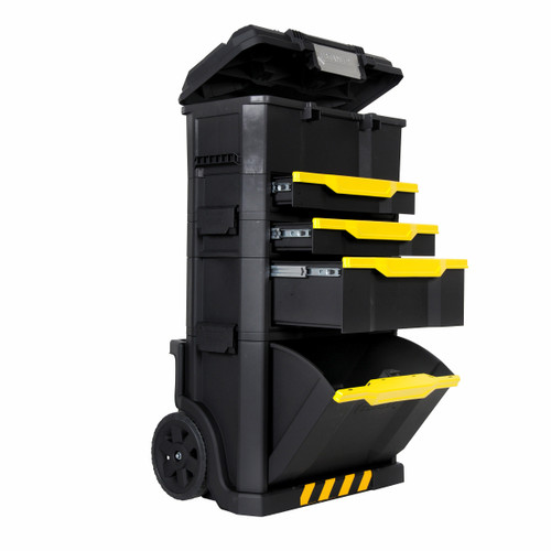 Stanley 1-79-206 Rolling Workshop - Modular with On Touch Latch Toolbox and Drawer - 7