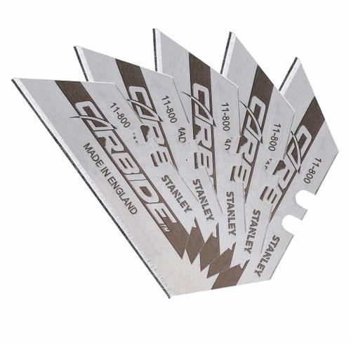 Stanley 0-11-800U Tungsten Carbide Knife Blades (Pack of 5) - 3