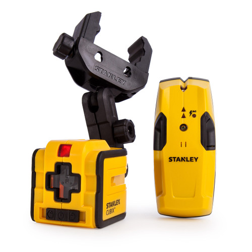 Stanley Cubix Self Levelling Cross Line Laser with S100 Stud and Cable Detector - 7