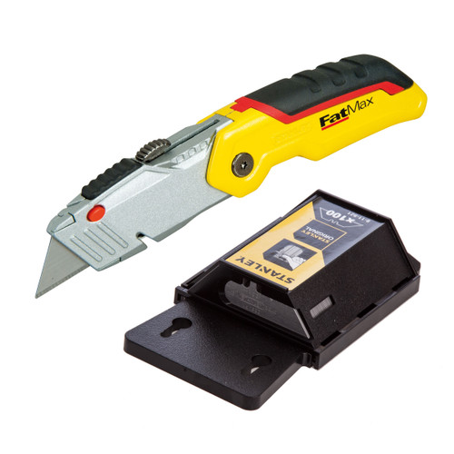 Stanley Fatmax Folding Retractable Knife + 100 Heavy Duty Blades - 3