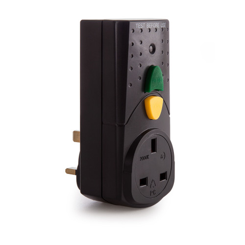 SMJ RCDAWC-BL RCD Adapter Black 240V - 3