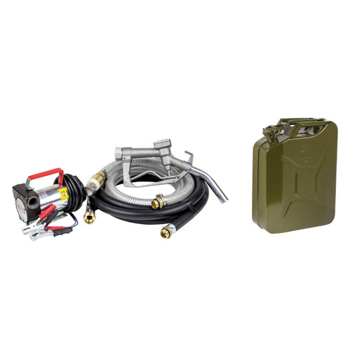 SIP 06801TS1 Diesel Transfer Pump 12v With 04568 20 Litre Fuel Can - 2