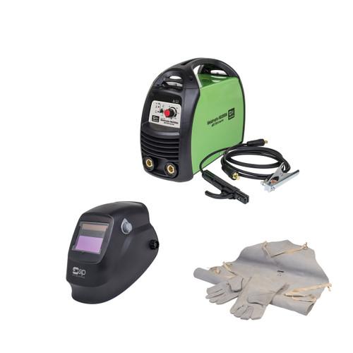 SIP 05730TS1 Weldmate HG2000A ARC/TIG Inverter Welder 240V & 02883 Welding Headshield & 25112 Apron and Gauntlets - 3