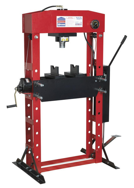 Buy Sealey YK50FFP Hydraulic Press Premier 50tonne Floor Type With Foot Pedal at Toolstop