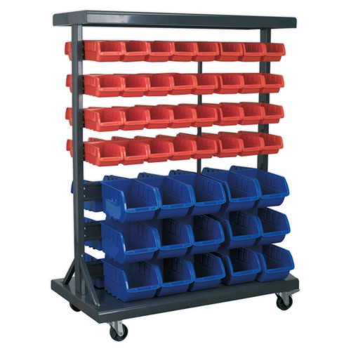 Buy Sealey TPS94 Mobile Bin Storage System With 94 Bins at Toolstop