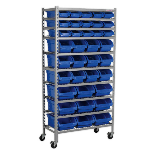 Buy Sealey TPS36 Mobile Bin Storage System 36 Bins at Toolstop
