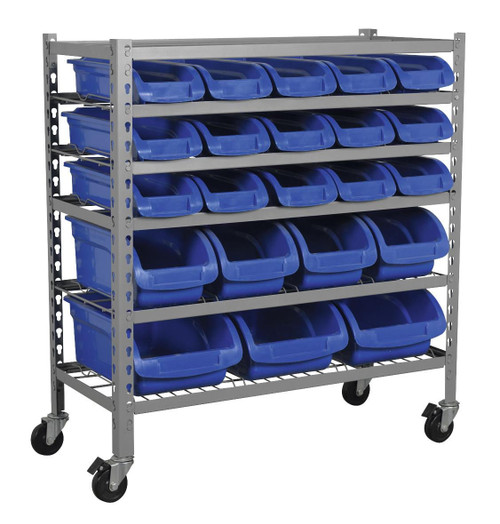 Buy Sealey TPS22 Mobile Bin Storage System 22 Bins at Toolstop