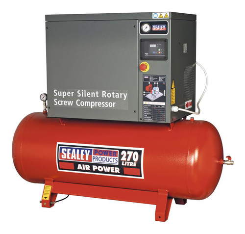 Buy Sealey SSC12710 Screw Compressor 270ltr 10hp 3ph Low Noise at Toolstop