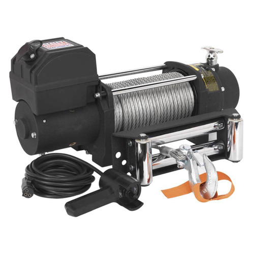 Buy Sealey SRW4300 Self Recovery Winch 4300kg Line Pull 12v at Toolstop