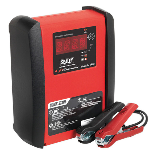 Buy Sealey SPI6S Intelligent Speed Charge Battery Charger 6amp 12v at Toolstop