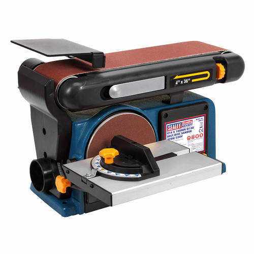 Sealey SM914 Belt/disc Sander 915 X 100mm/∅150 370w/240v - 1