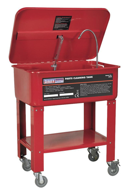 Buy Sealey SM28 Mobile Parts Cleaning Tank 50ltr at Toolstop