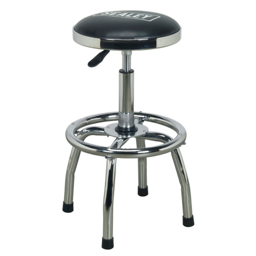 Buy Sealey SCR17 Workshop Stool Heavy-Duty Pneumatic With Adjustable Height Swivel Seat at Toolstop