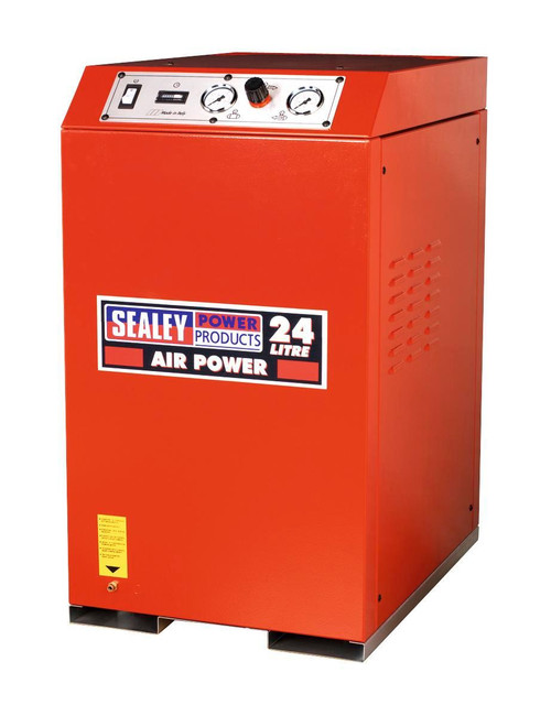 Buy Sealey SAC82425VLN Compressor 24ltr V-twin Direct Drive 2.5hp Cabinet Low Noise at Toolstop