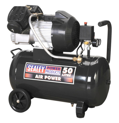 Buy Sealey SAC5030VE Compressor 50ltr V-twin Direct Drive 3hp at Toolstop