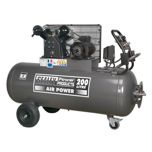 Buy Sealey SAC3203B3PH Compressor 200ltr Belt Drive 3hp With Front Control Panel 415v-3ph at Toolstop