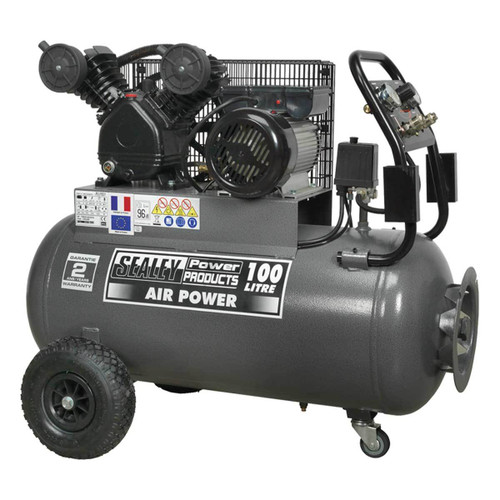 Buy Sealey SAC3103B Compressor 100ltr Belt Drive 3hp With Front Control Panel at Toolstop