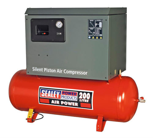 Buy Sealey SAC2203BLN Compressor 200ltr Belt Drive 3hp With Cast Cylinders Low Noise at Toolstop